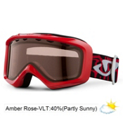 Giro Grade Kids Goggles 2013, Red Fontslice-Amber Rose 40, medium