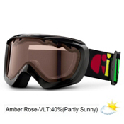 Giro Chico Kids Goggles 2013, Black Multi-Amber Rose 40, medium