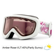 Giro Chico Kids Goggles 2013, White Heart Helix-Amber Rose 40, medium