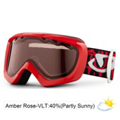 Giro Chico Kids Goggles 2013, Red Fontslice-Amber Rose 40, medium