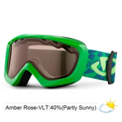 Giro Chico Kids Goggles 2013, Green Goggle Bots-Amber Rose 40, medium