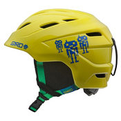 Giro Nine.10 Kids Helmet 2014, Yellow Goggle Bots, medium