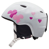 Giro Slingshot Girls Helmet 2013, White Heart Helix, medium