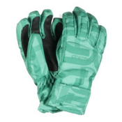 Obermeyer Alpine Kids Gloves, Pool Green Scrambled Print, medium