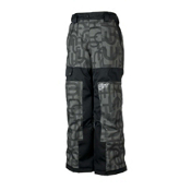 Obermeyer Prophet Kids Ski Pants, Basalt Scrambled Print, medium