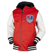 Obermeyer Varsity Boys Ski Jacket, Lava, medium