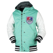 Obermeyer Varsity Boys Ski Jacket, Pool Green, medium
