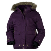Obermeyer Bombdiggity Girls Ski Jacket, Plum, medium