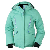 Obermeyer Stella Girls Ski Jacket, Pool Green, medium