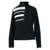 Obermeyer Regatta Fleece Top Kids Midlayer, Black, medium