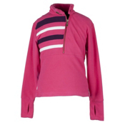 Obermeyer Regatta Fleece Top Kids Midlayer, Hibiscus, medium
