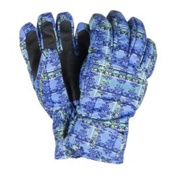 Obermeyer Alpine Girls Gloves, Provence Plaid, medium