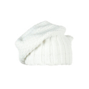 Obermeyer Cake Knit Kids Hat, White, medium