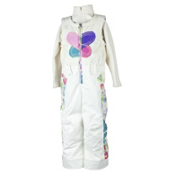 Obermeyer Love Bib Toddler Girls Ski Pants, Marshmallow, medium