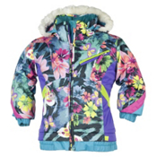 Obermeyer Sunrise Toddler Girls Ski Jacket, Midnight Butterfly Garden Prnt, medium