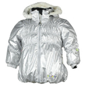 Obermeyer Sheer Bliss Toddler Girls Ski Jacket, Platinum, medium