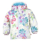 Obermeyer Serenity Toddler Girls Ski Jacket, Daylight Butterfly Garden Prnt, medium