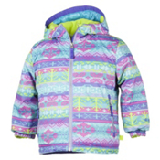Obermeyer Serenity Toddler Girls Ski Jacket, Black Mi Amore Sweater Print, medium