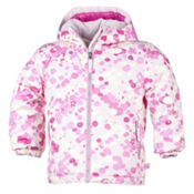 Obermeyer Serenity Toddler Girls Ski Jacket, Cotton Candy Dippy Dots Print, medium