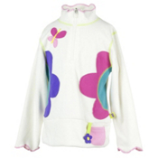 Obermeyer Gaga Fleece Kids Midlayer, Marshmallow, medium