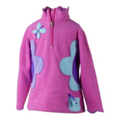 Obermeyer Gaga Fleece Kids Midlayer, China Pink, medium