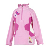Obermeyer Gaga Fleece Kids Midlayer, Bubble Pink, medium