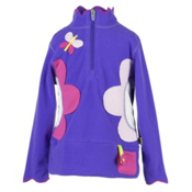 Obermeyer Gaga Fleece Kids Midlayer, Grape, medium