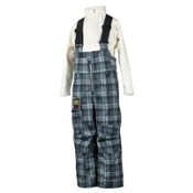 Obermeyer Volt Suspender Toddlers Ski Pants, Slate Flannel Plaid, medium