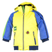 Obermeyer Slopestyle Toddler Ski Jacket, Acid Yellow, medium