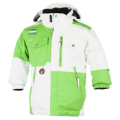 Obermeyer Superpipe Toddler Ski Jacket, White, medium