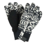 Obermeyer Thumbs Up Girls Toddlers Gloves, Black Mi Amore Sweater Print, medium