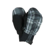 Obermeyer Thumbs Up Toddlers Mittens, Slate Flannel Plaid, medium