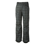 Columbia High Volt Womens Ski Pants, Black Printed Plaid, medium