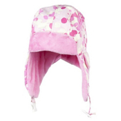 Obermeyer Flap Toddlers Hat, Cotton Candy Dippy Dots Print, medium