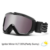 Smith Knowledge Turbo Fan OTG Goggles 2013, Black-Ignitor Mirror, medium