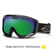 Smith Prophecy Goggles 2013, Black-Green Sol X Mirror, medium