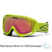 Smith Prophecy Goggles 2013, Lime-Red Sensor Mirror, medium