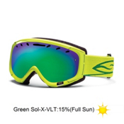 Smith Phenom Goggles 2013, Lime-Green Sol X Mirror, medium