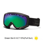 Smith Phase Womens Goggles 2013, Gunmetal Coven-Green Sol X Mirror, medium