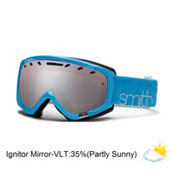 Smith Phase Womens Goggles 2013, Light Blue Twist-Ignitor Mirror, medium
