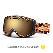 Smith Phase Womens Goggles 2013, Black Monarch-Gold Sensor Mirror, medium