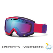 Smith Phase Womens Goggles 2013, Neon Red Typepress-Blue Sensor Mirror, medium