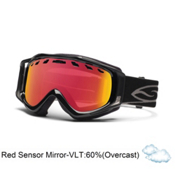 Smith Stance Goggles 2013, Black-Red Sensor Mirror, medium