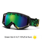 Smith Stance Goggles 2013, Irie Mission-Green Sol X Mirror, medium