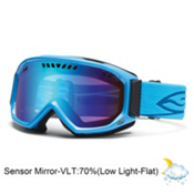 Smith Scope Goggles 2013, Cyan-Blue Sensor Mirror, medium