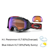 Oakley Airbrake Seth Morrison Goggles 2013, Mountain Reaper-Blue Iridium and H.i. Persimmon, medium