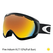 Oakley Canopy Goggles, Matte Black-Fire Iridium, medium