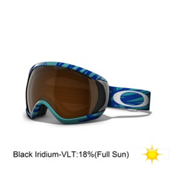 Oakley Canopy Goggles 2013, Scratch Aurora Blue-Black Iridium, medium