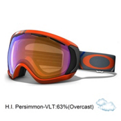 Oakley Canopy Goggles 2013, Freedom Plaid Neon Fire- H.i. Persimmon, medium