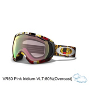 Oakley Canopy Goggles 2013, Rocked Out Red-Vr50 Pink Iridium, medium